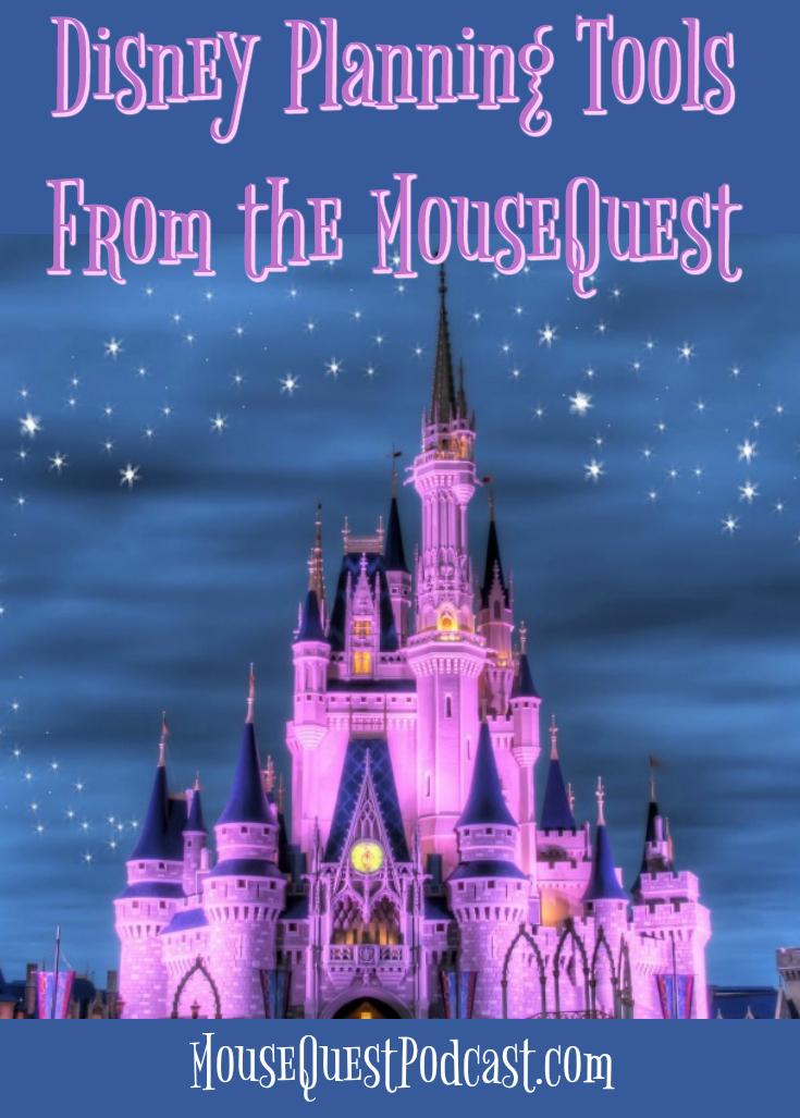 Disney Planning Tools