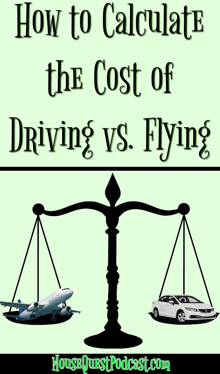 Calculate the Cost of Driving vs. Flying to Disney