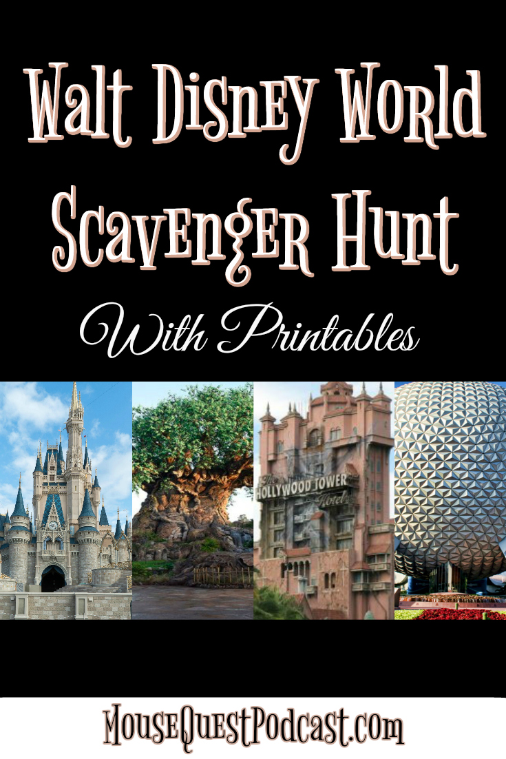 Walt Disney World Scavenger Hunt