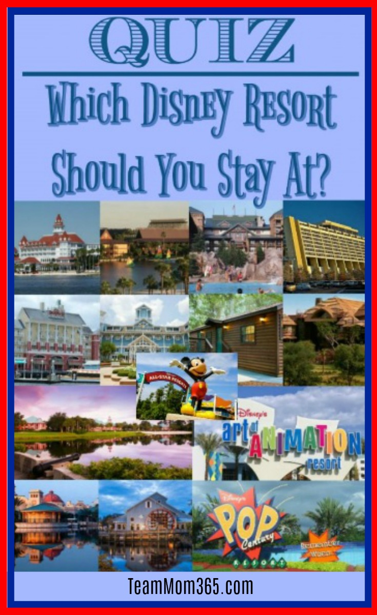 Quiz - Which Disney Resort Should I Stay At?