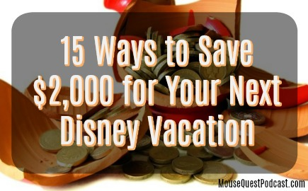 Save $2000 for Disney
