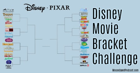 Disney-Pixar Movie Bracket Challenge
