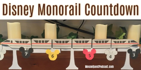 Disney Monorail Countdown