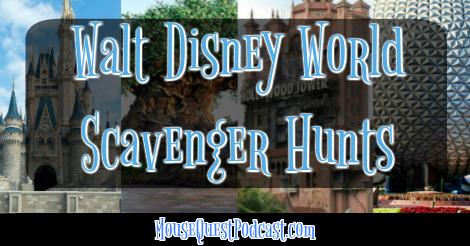 Walt Disney World Scavenger Hunt