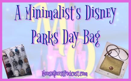 A Minimalist's Disney Parks Bag