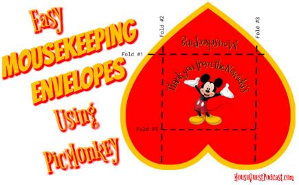 Disney Mousekeeping Envelopes